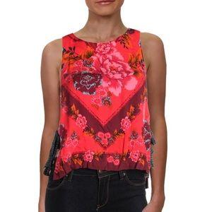 free people Women Floral Print Sleeveless Tank Top